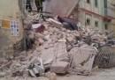 Il palazzo di tre piani crollato a Matera