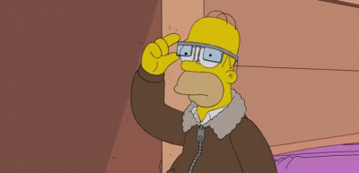 I Simpson con i Google Glass