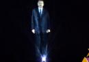 L'enorme ologramma di Erdoğan