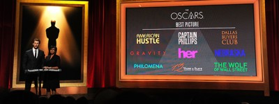Le nomination agli Oscar 2014