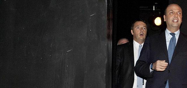 Renzi ed Alfano alla presentazione libro Bruno Vespa