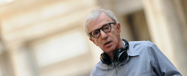 US film director Woody Allen walks at Pi