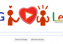 San Valentino, il doodle di Google