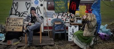 Manifestanti contro il fracking