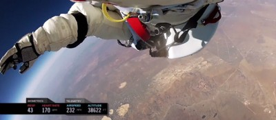 Il nuovo video del volo di Baumgartner