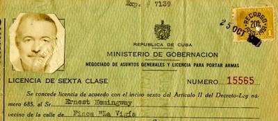 I documenti di Hemingway a Cuba