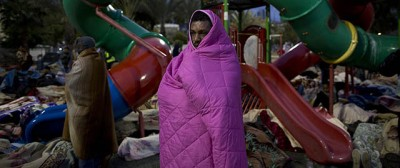 Migranti e coperte in Israele