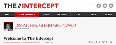 """""""The Intercept"""", il nuovo sito di Glenn Greenwald"""