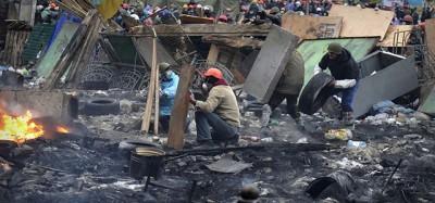 Le foto di una giornata terribile a Kiev