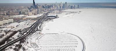 Il lago Michigan ghiacciato