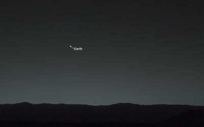 La Terra fotografata da Marte