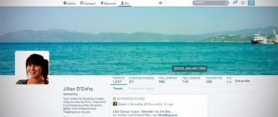 I nuovi profili di Twitter
