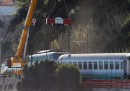 La rimozione del treno ad Andora – foto