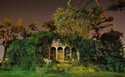 Le case di New Orleans, di notte