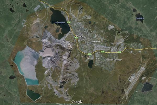 Kiruna, miniera e città
