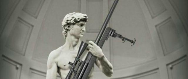 La pubblicità del David col fucile