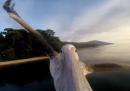 Il primo volo del pellicano (dal punto di vista del pellicano)