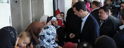 Le foto di Bashar al Assad vicino a Damasco