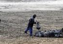 Il fondo di un lago in Kosovo, a causa della siccità