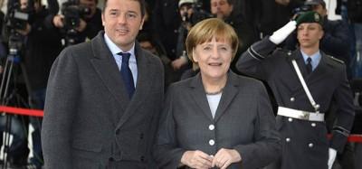 Renzi e Merkel a Berlino