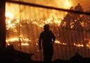 L'enorme incendio a Valparaíso, in Cile