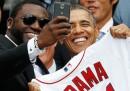 Le foto di Obama con i Red Sox