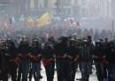 Le foto degli scontri di domenica a Roma
