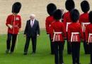 Le foto della storica visita del presidente irlandese a Londra