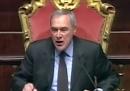 Il video di Grasso che urla a Santangelo (M5S): «Se io le dico di tacere lei deve tacere!»