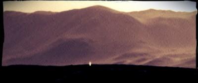 Il fascio di luce su Marte