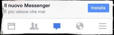 Facebook toglie i messaggi dalla sua app