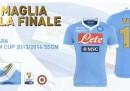La maglia del Napoli per la finale di Coppa Italia