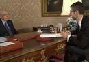 Giorgio Napolitano a Che tempo che fa