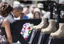 Le foto di Barack e Michelle Obama a Fort Hood