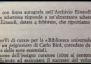 Davvero Pavese sgridò Einaudi?