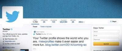 Come sono fatti i nuovi profili di Twitter