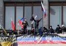 La dichiarazione d'indipendenza a Donetsk