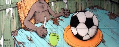 Il murale contro i Mondiali di San Paolo