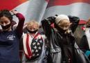 La protesta dei famigliari dei morti dell'11 settembre