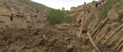 L'enorme frana in Afghanistan