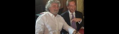 La foto della riunione tra Beppe Grillo e Nigel Farage a Bruxelles