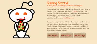 Quelli che regalano pizze su Reddit