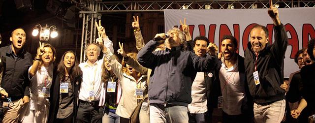 M5S, Beppe Grillo alla chiusura della campagna elettorale