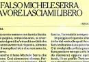 Michele Serra e il falso Michele Serra