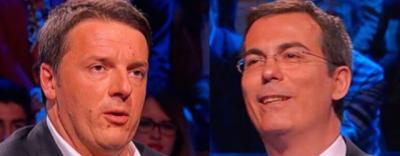 La discussione tra Renzi e Floris sui tagli alla RAI