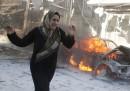 Un mercato di Aleppo è stato bombardato