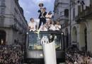 La festa della Juventus per lo scudetto