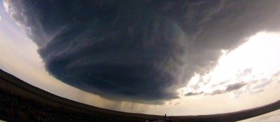 L'enorme nube verticale in Wyoming - video