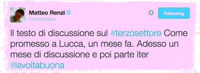"""La riforma del """"Terzo Settore"""" di Renzi"""