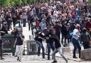 Le proteste dopo la strage in Turchia